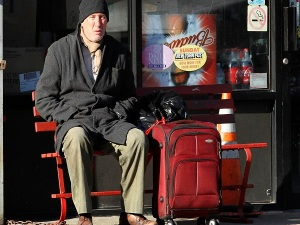 "Richard Gere was spotted shooting a scene for ""Time Out Of Mind"" in Woodside, Queens."